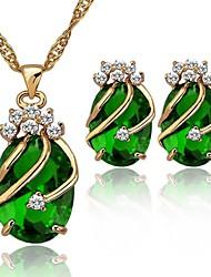 Women's Crystal Jewelry Set Brand 18K Gold Plated Sets Fashion Party Rhinestone Jewelry Set