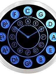 nc0945 círculo de quintas música de la guitarra muestra de neón LED reloj de pared