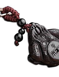Duo Ji Mi ®  Quartet Toad Ebony Woodcarvings Car Keys Pendant