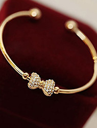 Korean Style Golden Heart Bangle Jewelry