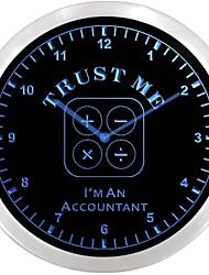nc0972 comptable Cpa impôt Neon Cadeau Inscrivez Horloge murale LED