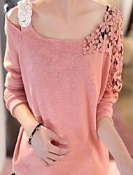 Women's Sweet Spring Soft Knit Lace T-Shirt