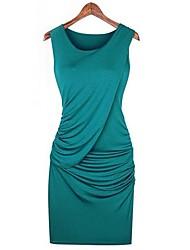 Mangas Bodycon Vestido azul de la mujer Ricci 2685-1
