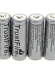 TrustFire TR 18500 1800mAh da bateria com proteção de sobrecarga (4 peças)