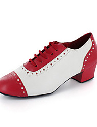 Damen Kunstleder Ober Modern Dance Schuhe Sandaletten mit Lace-ups