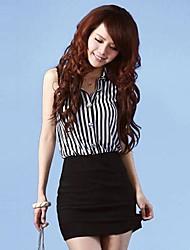 Women's Lace Joint Stripe Dress