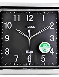 "Timess™ 11""H  Brief Style Titanium Silver Texture Mute Circular Wall Clock"