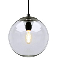 60W Pendant Light ,  Modern/Contemporary Chrome Feature for Mini Style Metal Living Room