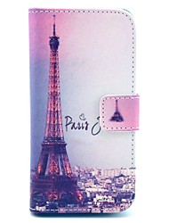 Signature Eiffel Tower Pattern PU Leather Case with Card Slot and Stand for Samsung Galaxy S4 mini I9190