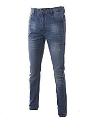 VOBOOM dünnen Männer beiläufige dünne Jeans-Shorts Shorts