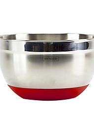 Мини нержавеющая сталь салатницу, L21cm х W21cm х H12cm