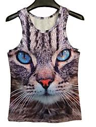 Herren-Katzen-Druck 3D-I-Shaped Vest