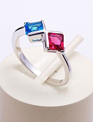 AS 925 Silver Jewelry  Color CZ Ring
