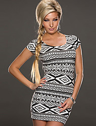 Girls Night Women's Color Block Black Dresses , Sexy / Casual / Party Mid Rise Sleeveless