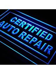 s114 Certified Auto-Reparatur Auto Shop Neonlicht-Zeichen