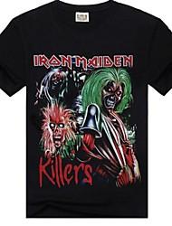 ROCKSIR®Men's Round Collar Iron Maiden Printed Pure T-shirt
