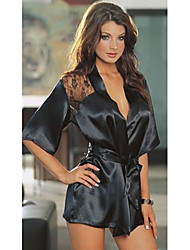 PHIKAS Women'S Sexy Lace Long Sleeve Robe