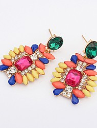 Shadela Contrast Color Diamonade Candy Color Ear Ring