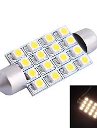42mm 4W 200LM 3000K 16x3528 SMD Warm White LED for Car Reading/License Plate/Door Lamp (DC12V, 1Pcs)