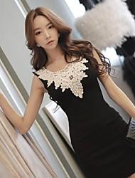Women's Four Seasons Lace Joint Slim Dress
