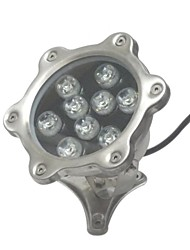LED 9pcs High Power LED outdoors 9W White Underwater Light AC/DC12V
