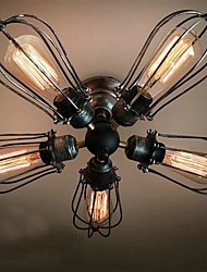 MAX 60W Flush Mount ,  Vintage Painting Feature for Mini Style / Bulb Included MetalLiving Room / Bedroom / Dining Room / Study