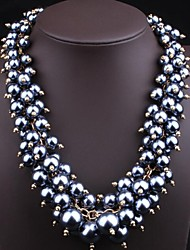 Women's Fashion Color Pearl Necklace