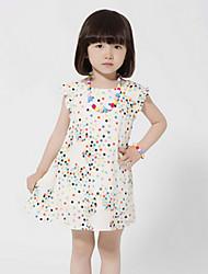 Imprimir Floral BASDIO Kids 'vestido sem mangas