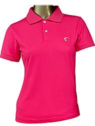 TTYGJ Women's Combed Cotton Short Sleeve Rose Golf Polo Shirt