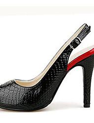 Красно-Гоуст Женская мода Змея полосой на ремешках каблуки обуви