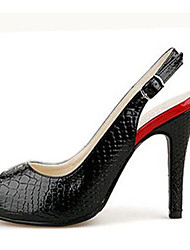 Red-Goust Damenmode Snake Stripe Sling zurück Heels Schuhe