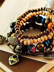 Alliage de bronze de bracelet d'enveloppe de mode de style de la Bohême de cru de femmes Strand (1 PC)