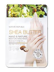 República Natureza Manteiga de Karité mão e Natureza umidade mão 12gx2pcs Máscara
