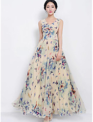 Women's Dresses , Chiffon Casual DOWISI