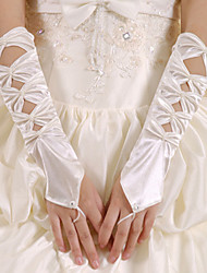 Wrist Length Fingertips Glove Lace/Tulle Bridal Gloves/Party/ Evening Gloves