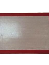 elementos de cocina de silicona estera de fibra de vidrio para hornear con color al azar