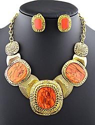 Tango Fashion Jewelry Rhinestone Necklace-42+7(cm)(Red,Blue,Fuchsia,Orange,Gray,CoffeeST50025)