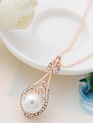 Боли женщин в корейской Перл Diamonade ожерелье 363