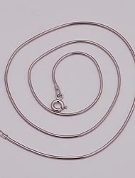como jóias de prata 925 40 centímetros 1,5 m cadeia cobra rodada