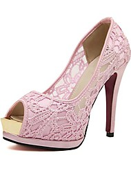 Mulheres Stiletto Peep Toe Pumps Shoes (mais cores)