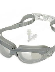 Stylish PC Lens Swimming Goggle  Glasses Gray/ Carrying Box (Give ear plugs)