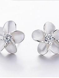 Sillove Women's Fashion Joker Flowers Stud Earrings