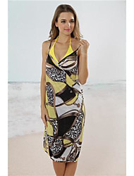 Women's Straped Cover-Ups , Floral Acrylic/Spandex Red/Multi-color