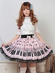 Jupe Doux Princesse Cosplay Vêtements de Lolita Incanardin Imprimé Lolita Moyen Jupe Pour Femme Polyester