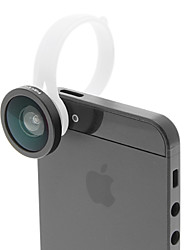 H8002 Round Shape Fish Eye Detachable Clip Lens for Mobile Phone