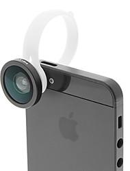 H8002 forma redonda Fish Eye Lens Clipe destacável para o telefone móvel