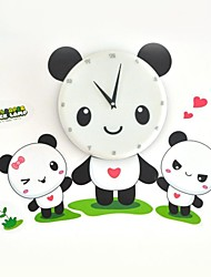 Strange New 3D Wall Paper Wall Clock (the Panda Family)  White Pink