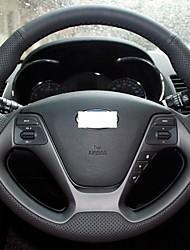 Xuji ™ cuoio genuino del nero della copertura del volante per Kia K3 2013