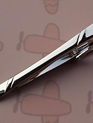 5,2 centímetros do vintage dos homens Clipes laço (prata) (1pc)