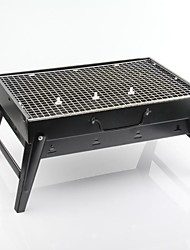 Aço Field Household Folding portátil Charcoal Grill, 43.5x29x23cm